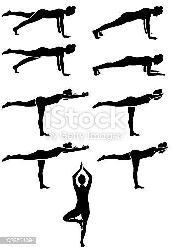 Pilates Woman Silhouette Symbol