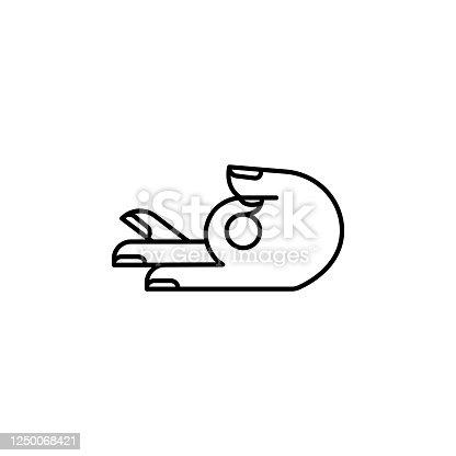 pilates, yoga line illustration icon on white background