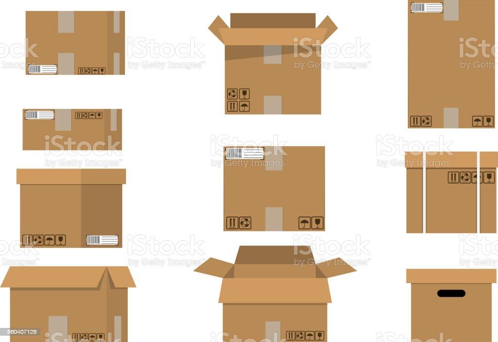 Empiler les cartons ensemble. - Illustration vectorielle