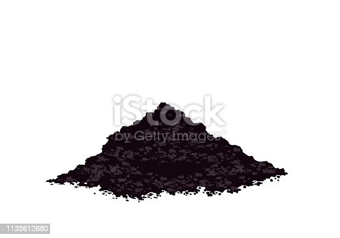 istock Pile heap of soil humus, Potting soil to plant, Heap of earth, heap of soil, Vector illustration isolated on white background 1133612680