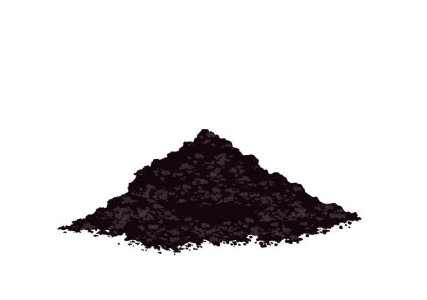 illustrazioni stock, clip art, cartoni animati e icone di tendenza di pile heap of soil humus, potting soil to plant, heap of earth, heap of soil, vector illustration isolated on white background - terra