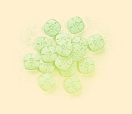 Pile Of Adderall Pills Stock Illustration - Download Image