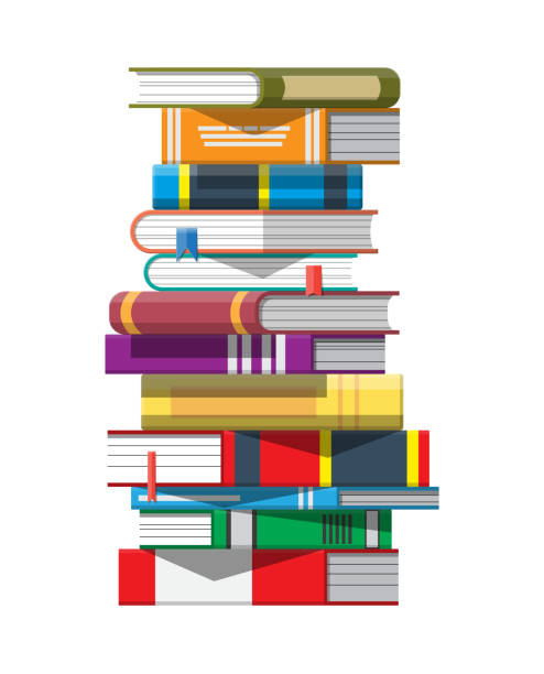 Stapel Bücher. – Vektorgrafik