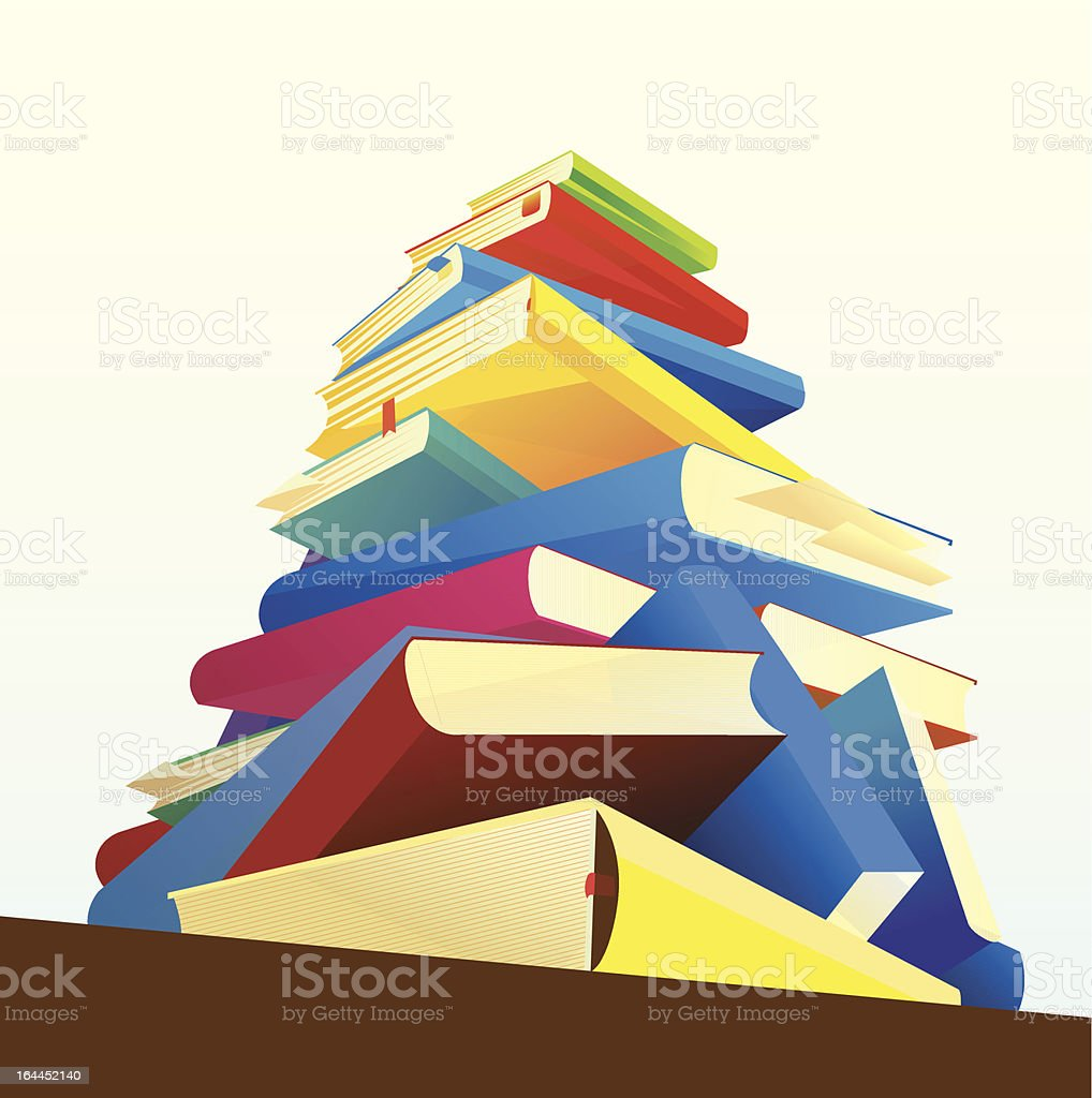 Pile of Books royalty-free pile of books stock vector art & more images of book