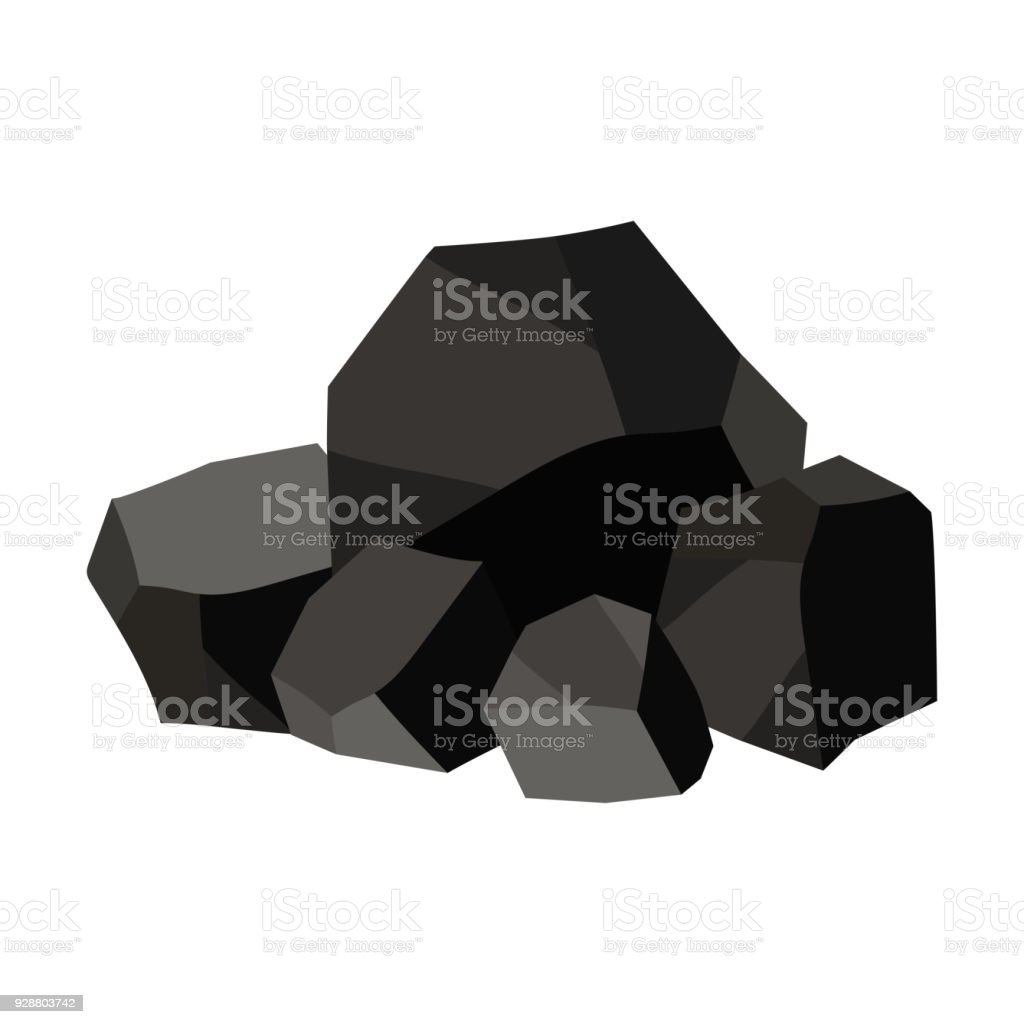 Pile of charcoal, graphite coal. royalty-free pile of charcoal graphite coal stock illustration - download image now