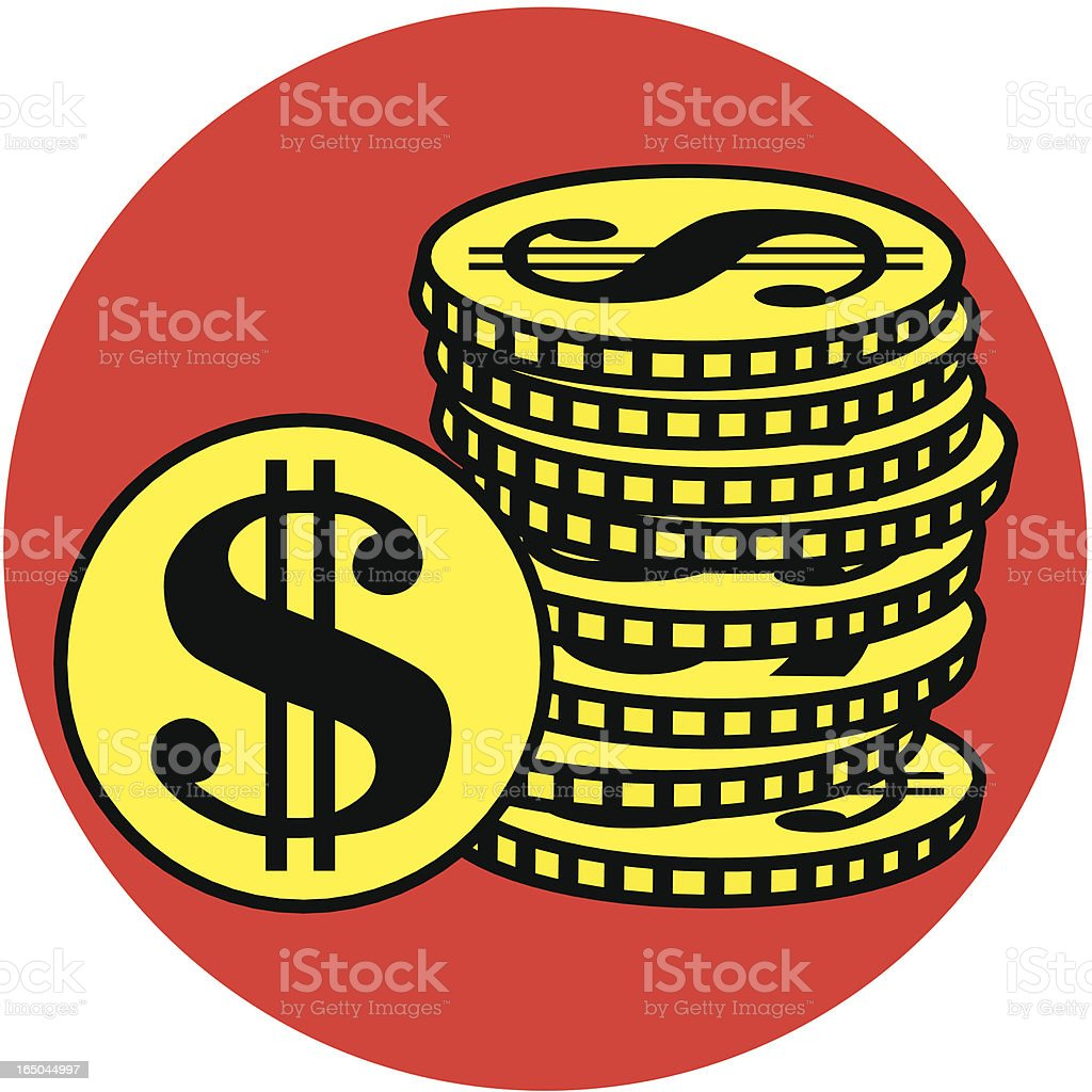 pile of coins royalty-free stock vector art
