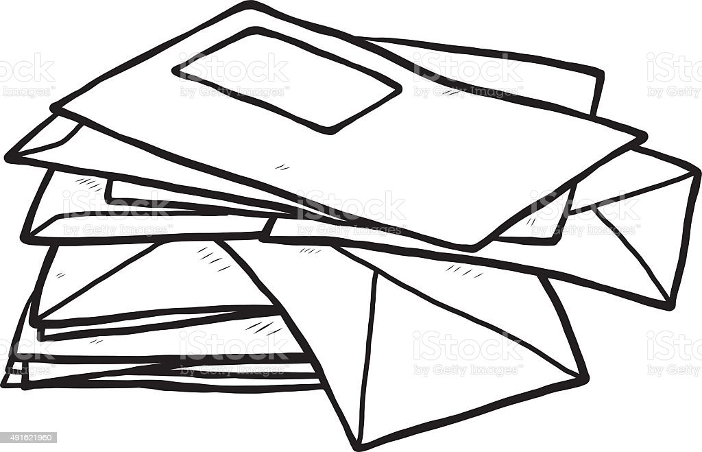 Briefe Clipart : Pile of envelope stock vector art more images