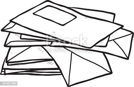 Pile Of Envelope Stock Vector Art & More Images of 2015