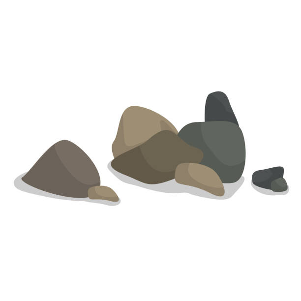 pile of gray and brown smooth rocks - pebbles stock illustrations, clip art, cartoons, & icons