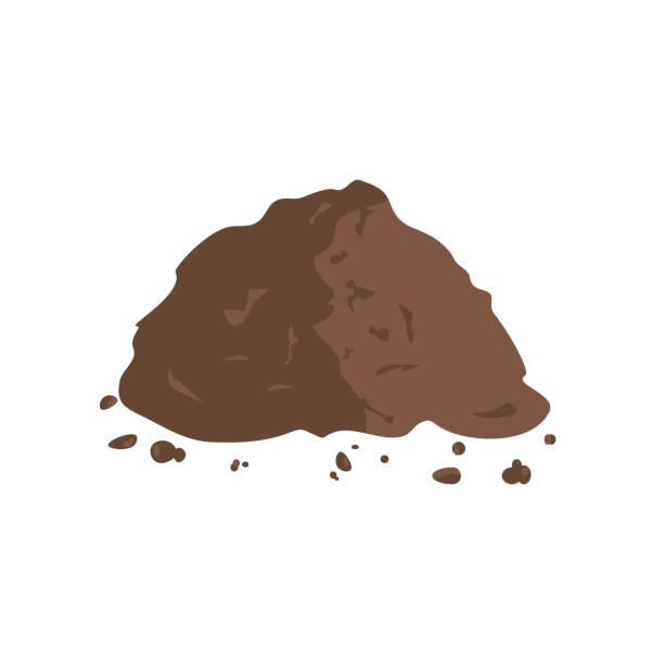 stockillustraties, clipart, cartoons en iconen met stapel van grond of compost - hoop
