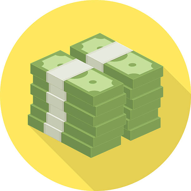 pile of money vector icon. - rock formations stock illustrations