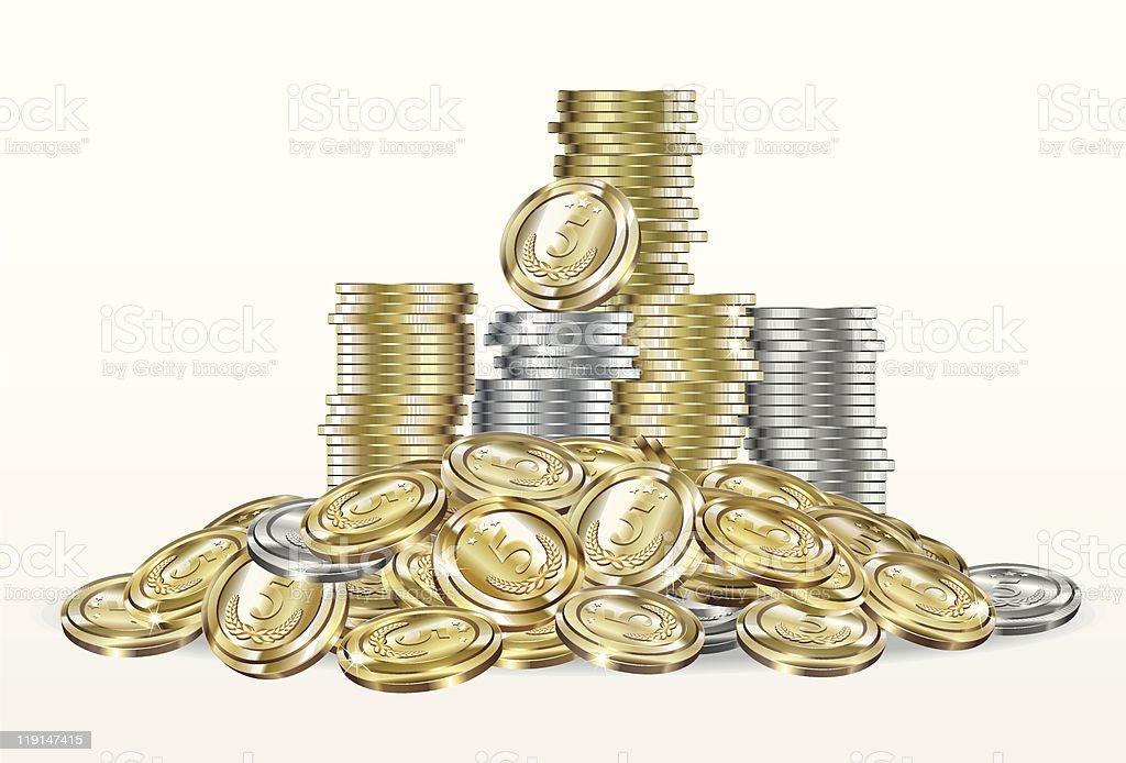 Pile of money royalty-free stock vector art