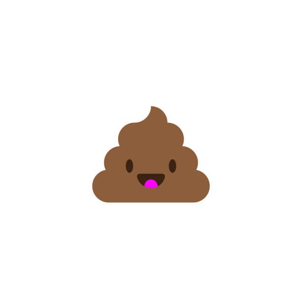 Pile of Poo icon. Shit emoticon flat design Pile of Poo icon. Shit emoticon flat design feces stock illustrations