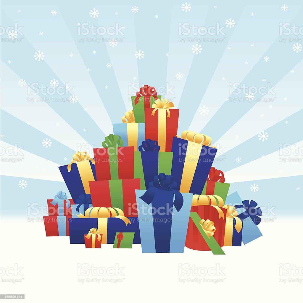 Montón de regalos ilustración de montón de regalos y más banco de imágenes de abundancia libre de derechos