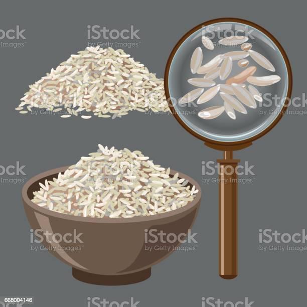 Pile De Riz Et De Loupe Vecteurs libres de droits et plus d'images vectorielles de Agriculture