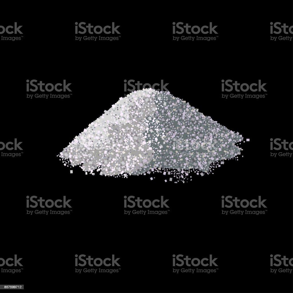 Haufen Salz – Vektorgrafik