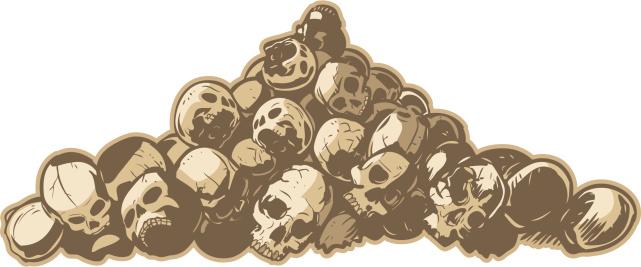 Pile Of Skulls Vector Illustration