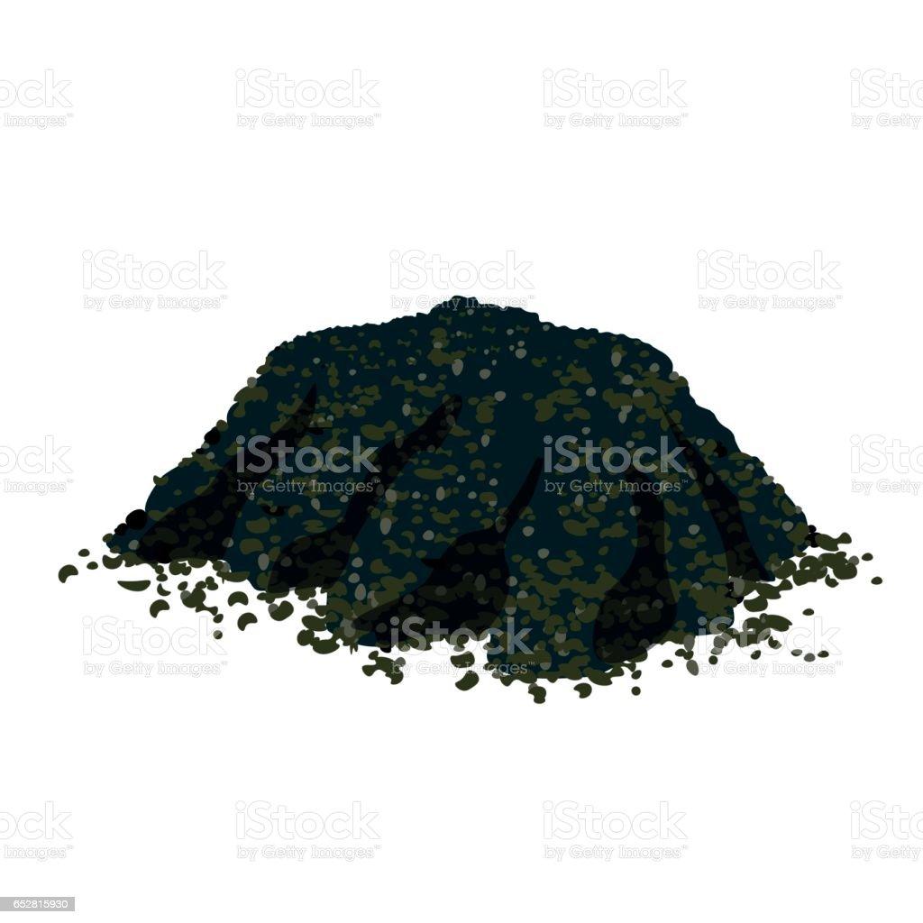Pile of soil vector art illustration