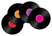 istock Pile of vinyl record, 3d vector illustration 1325689676