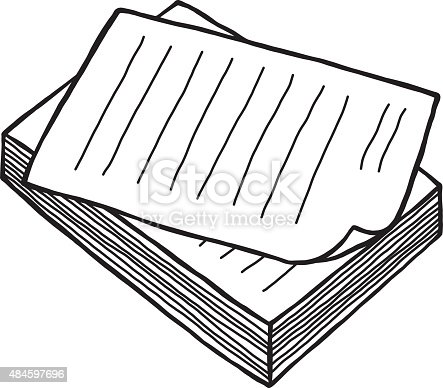 Pile Of Work Paper Stock Vector Art & More Images of 2015