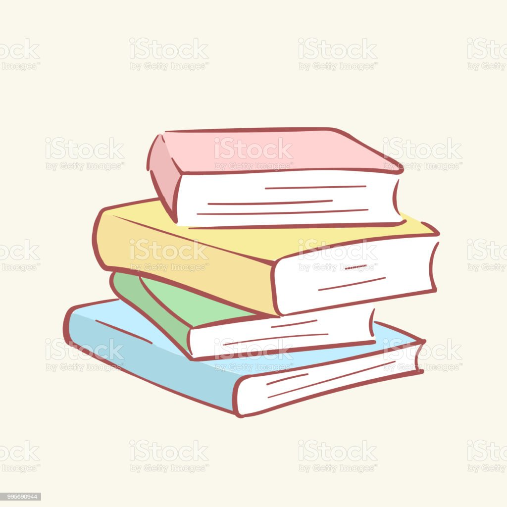 Pile Pile Livres Main Dessinee Style Vecteur Doodle Conception Illustrations Vecteurs Libres De Droits Et Plus D Images Vectorielles De Apprentissage