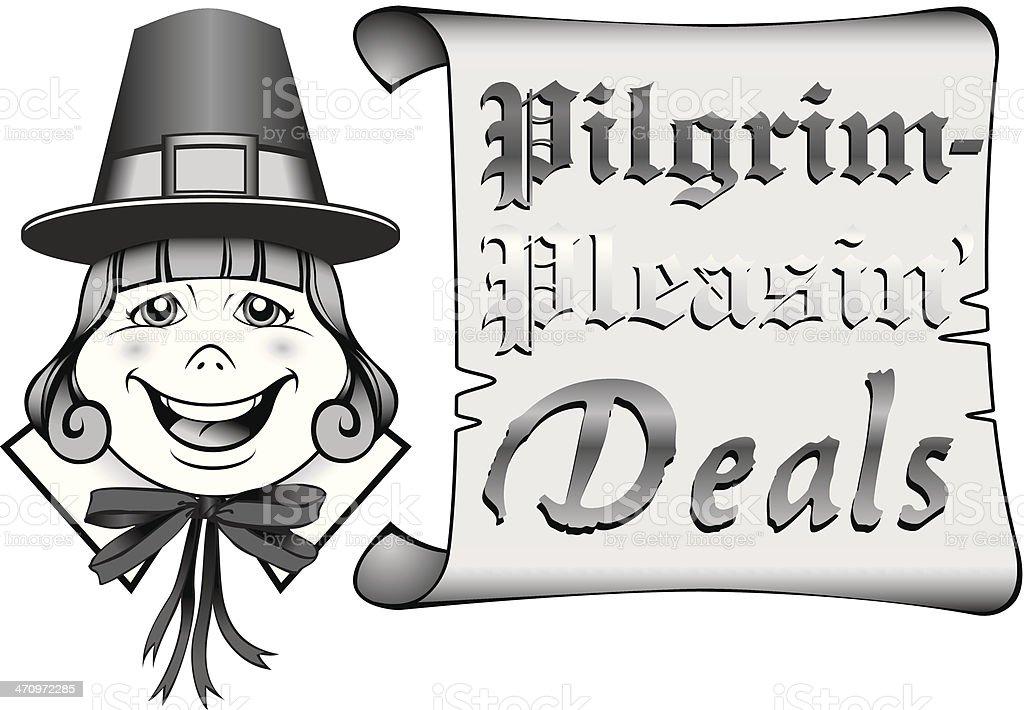 Pilgrim Deals Heading Stock Vector Art More Images Of Adult