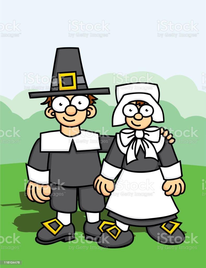 Pilgrim Kids royalty-free stock vector art