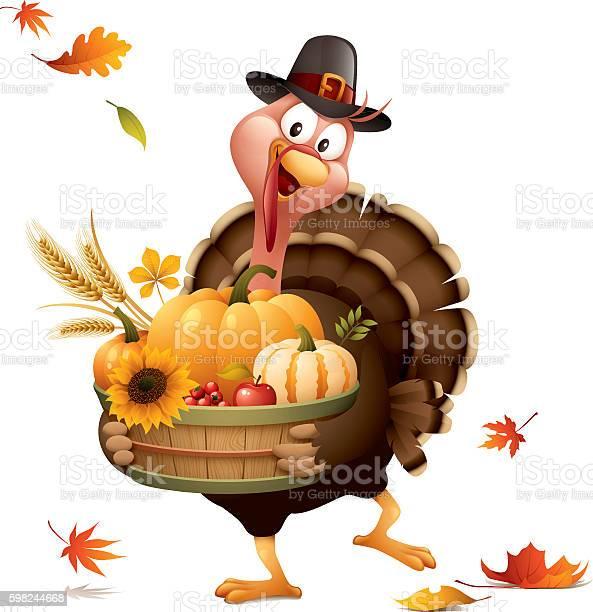 Pilgrim turkey with harvest basket vector id598244668?b=1&k=6&m=598244668&s=612x612&h=4b5ug3zqxrdc54kjubdhoeoe3bs sktlk sab0ipgt8=