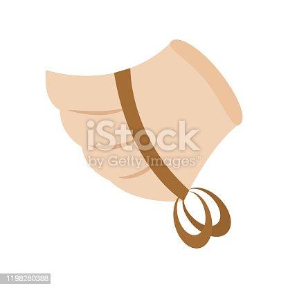 istock Pilgrim woman hat 1198280388