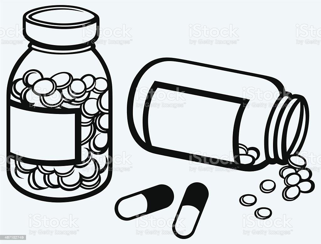pill bottle spilling pills on to surface stock vector art more rh istockphoto com Writing Center Clip Art Tangerine Tree Clip Art