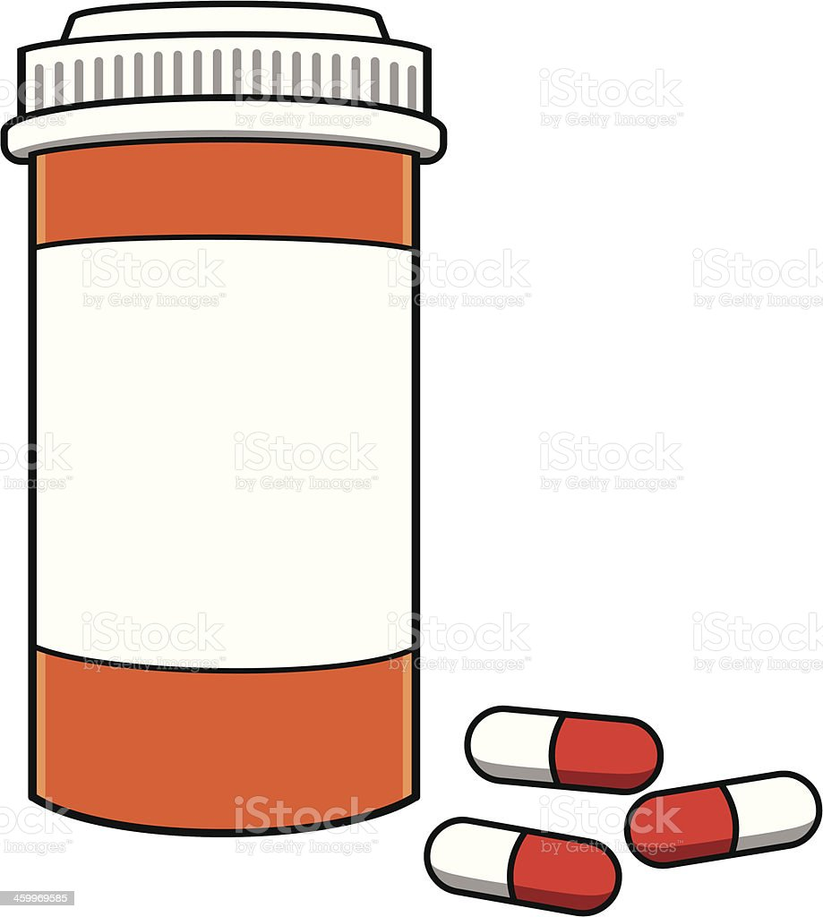 royalty free empty pill bottle clip art vector images rh istockphoto com prescription pill bottle clipart