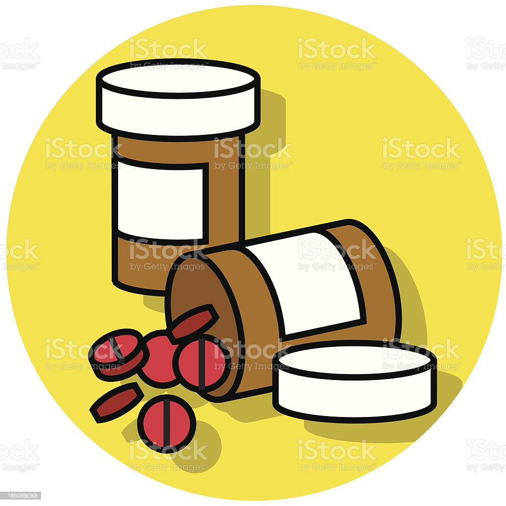 pill bottles icon royalty-free stock vector art