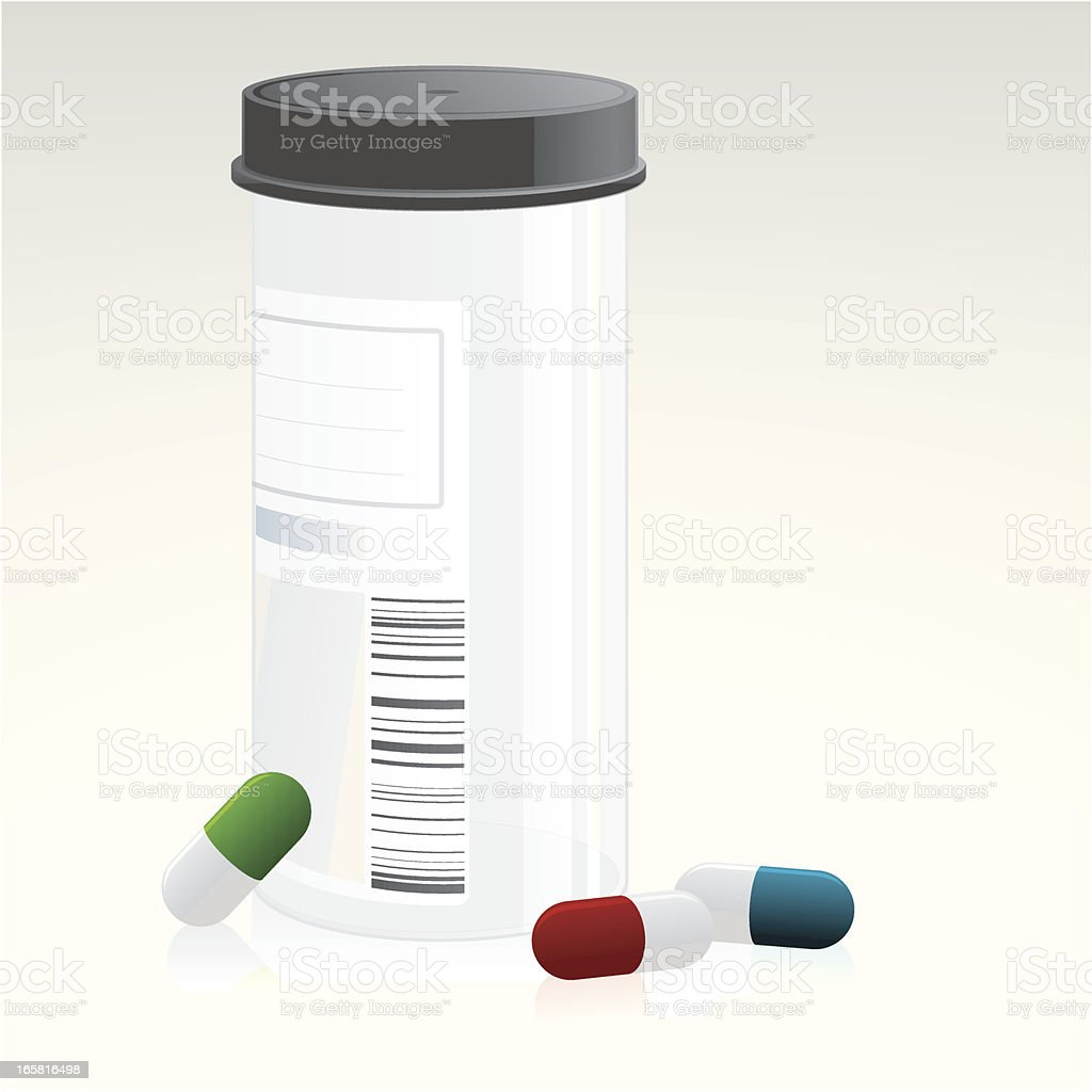 Pill box vector art illustration