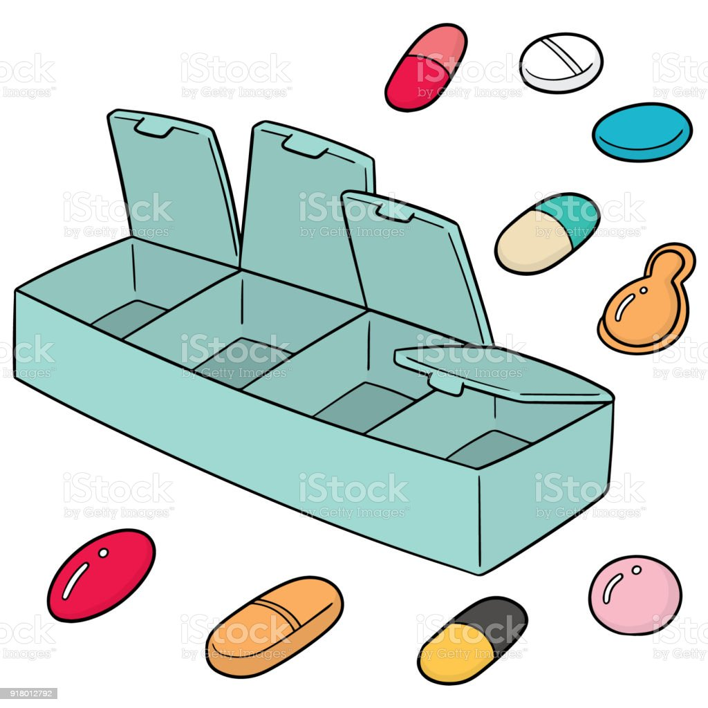 Royalty Free Pill Container Clip Art  Vector Images