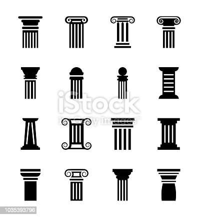 Monuments, buildings, halls and government headquarters have pillars not only for ornamental purposes but for support to the basic building structure as well. This set of glyph icons comprises of pillar vectors which are artistically designed to be used in designing projects.
