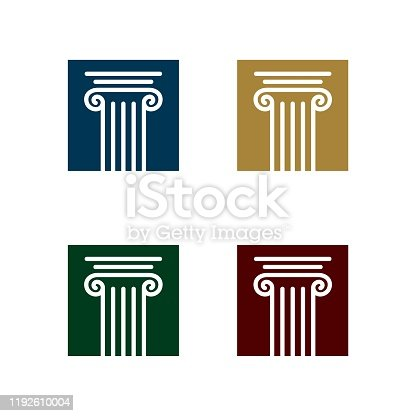 Pillar Logo Template for Law Office Illustration Design. Vector EPS 10.