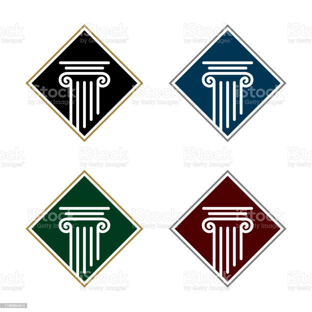 Pillar Logo Template For Law Office Illustration Design ...