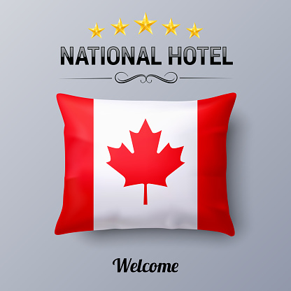 Pillow and Flag of Canada