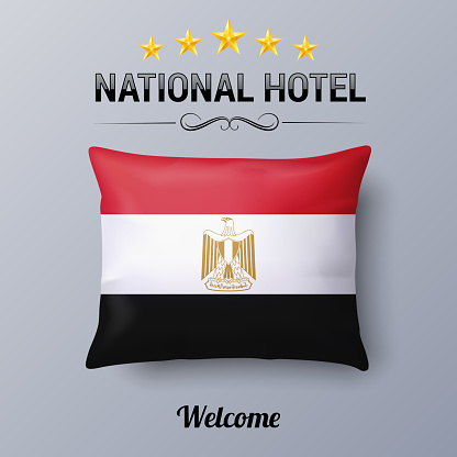Pillow and Flag of Egypt