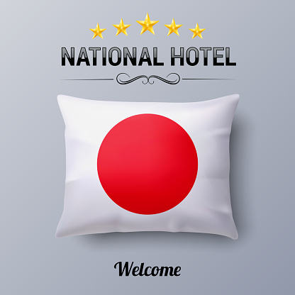 Pillow and Flag of Japan