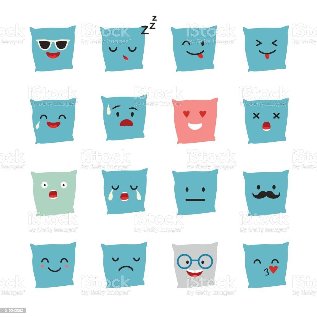 Pillow emoji vector illustration vector art illustration