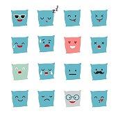 Pillow emoji vector illustration