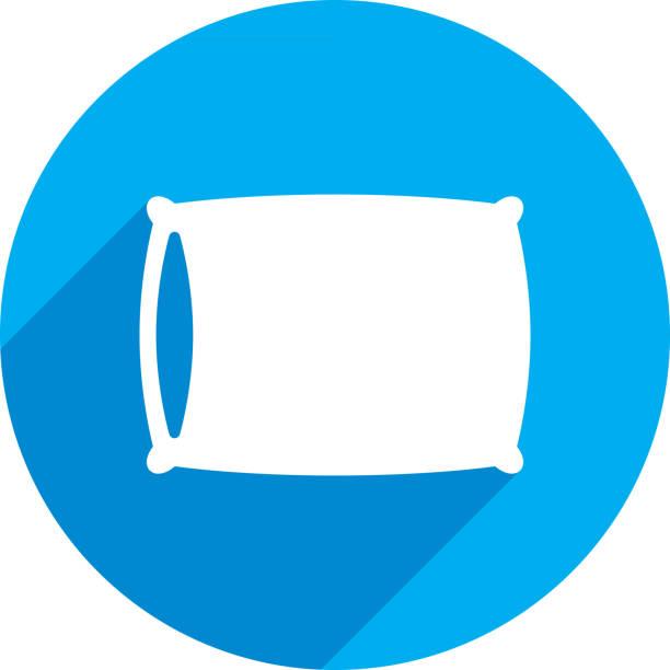 ilustraciones, imágenes clip art, dibujos animados e iconos de stock de silueta del icono de almohada - comfortable