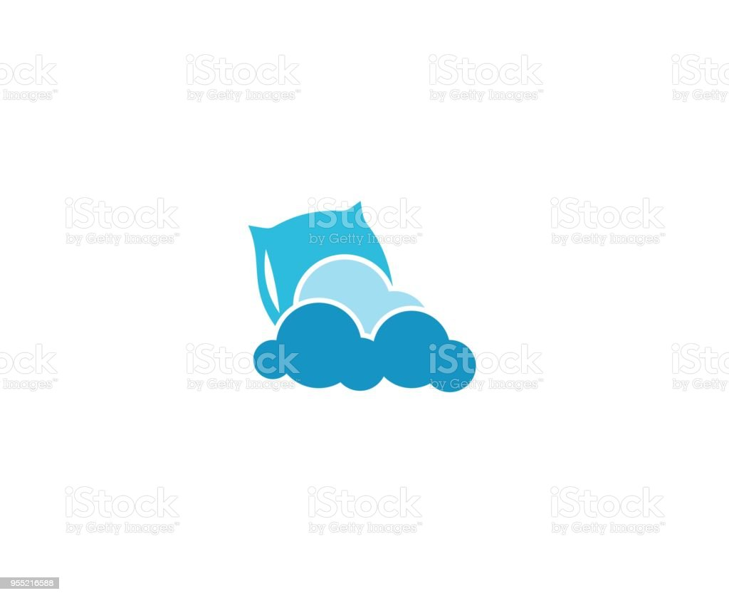 Pillow icon vector art illustration
