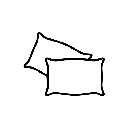 Pillow Line icon on white background