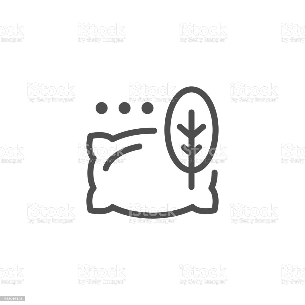 Pillow line icon vector art illustration