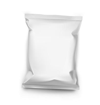 Pillow pack on white background. Vector illustration.