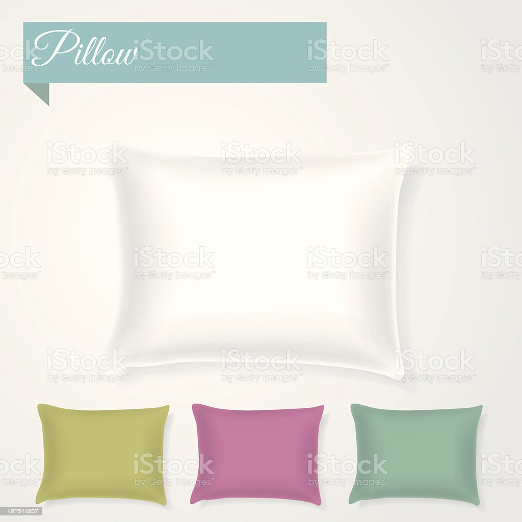 Pillow with separate shadows vector art illustration
