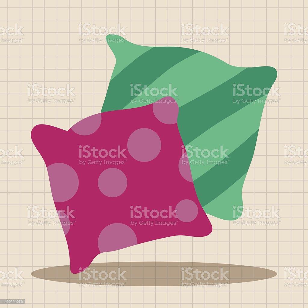 pillows theme elements vector art illustration