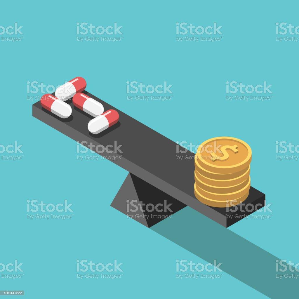 Pillen en saldovectorkunst illustratie